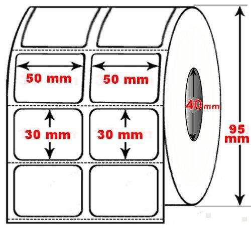 DIMATICA Rotolo Da 1000 Etichette Adesive Mm 63X40 Termiche 1 Pista Anima 40