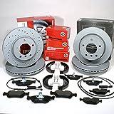 Zimmermann Bremsscheiben + Bremsbeläge vorne hinten + Handbremsbacken + Zubehör für hinten