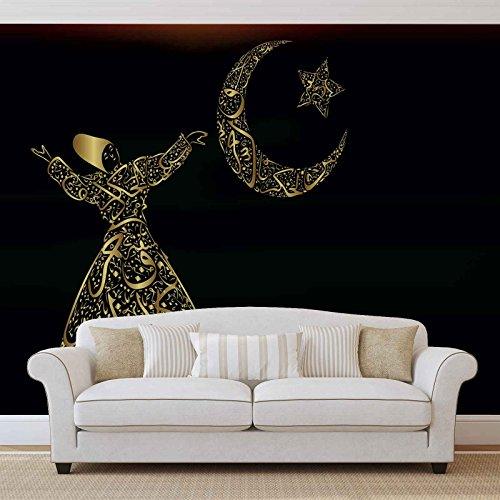 Arabisch Islam Tanz - Wallsticker Warehouse - Fototapete - Tapete - Fotomural - Mural Wandbild - (1080WM) - L - 152.5cm x 104cm - VLIES (EasyInstall) - 1 Piece
