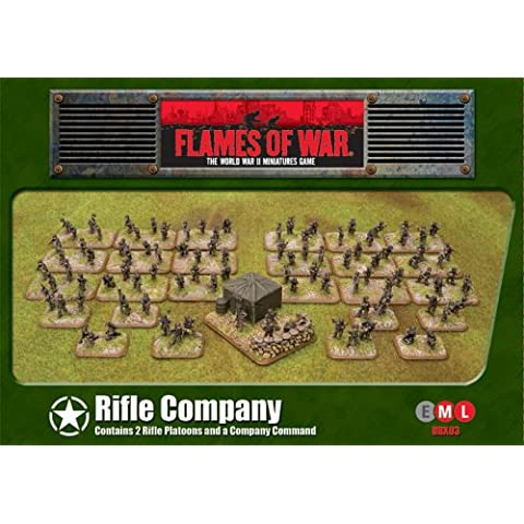 Flames of War Miniatures - Rifle Empresa [importado de Alemania]
