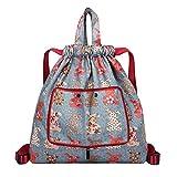 GKOKOD-Backpack 2019 Nylon Rucksäck, Damen Schultern Rucksäcke Groß Kapazität Blume Ethnisch Stil Wasserdicht Schultasche, Schultasche FüR Mädchen Satch