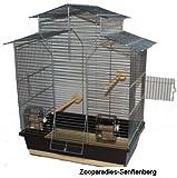 Vogelkäfig,Wellensittichkäfig,Exotenkäfig,60 cm Vogelkäfig Vogelbauer Wellensittich Kanarien Voliere Vogelhaus Käfig IZA 2 II braun