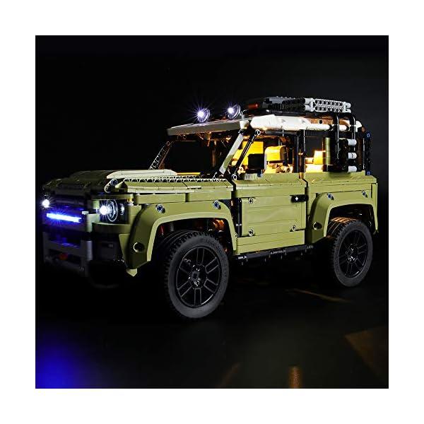 LIGHTAILING Set di Luci per (Technic Land Rover Defender) Modello da Costruire - Kit Luce LED Compatibile con Lego 42110… 3 spesavip