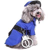 Awhao - Disfraz de perro para Halloween, Navidad, Mascota, Perro, Festival, Ropa de policía
