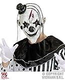Widmann s.r.l. Killer Clown Maske mit Haaren und Hut Pierrot