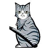 KKmoon Karikatur lächelnde Katze 3D Auto Aufkleber Fenster Reflektierende FolieHeckscheibenwischer Lustige Aussen Styling Windschutzscheibe Auto Fahrzeug Dekoration Angehängte Abdeckung