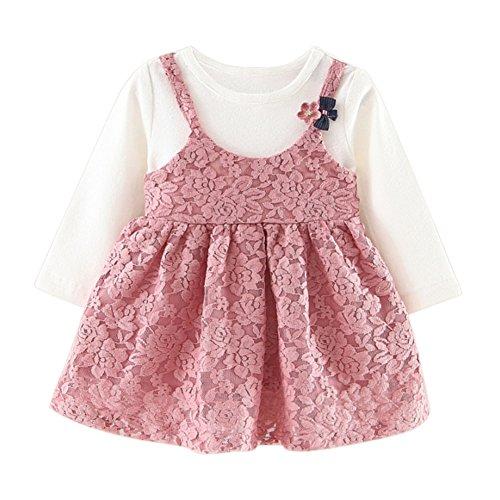 Spitzenkleider für Babys 1pc Kleid für 0-24 Monate Kind Langarm Baumwollkleidung von Bornbayb