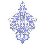 Stencil Company, stencil riutilizzabile, modello Damasco floreale, per uso su carta, scrapbook, muro, pavimenti, tessuto, mobili, vetro, legno, ecc. m