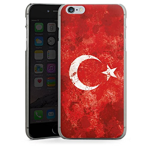 Apple iPhone 6 Hülle Case Handyhülle Türkiye Türkei Flagge Hard Case anthrazit-klar