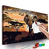 murando - Malen Nach Zahlen Afrika Elefant 80x40cm Malset DIY n-A-0364-d-a