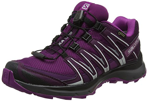 Salomon XA Lite GTX W, Zapatillas de Running para Asfalto para Mujer, Morado (Dark Purple/Potent Purple/Hollyhock Dark Purple/Potent Purple/Hollyhock), 38 EU