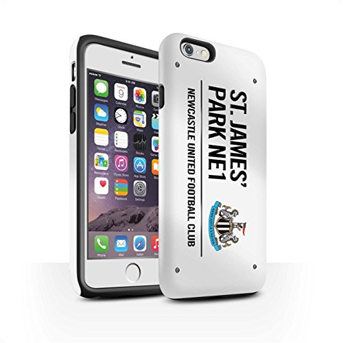 Offiziell Newcastle United FC Hülle / Matte Harten Stoßfest Case für Apple iPhone 6S / Pack 6pcs Muster / St James Park Zeichen Kollektion Weiß/Schwarz