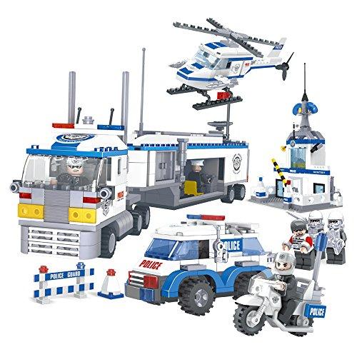 Ausini - Juego de construcción set completo policía, 779 piezas (Colorbaby 42837)
