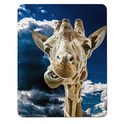 Addies Mousepad Giraffe. Sehr schönes Mauspad Motiv in feiner Cellophan Geschenk-Verpackung mit Kautschuk Untermaterial, 240mm x 190mm