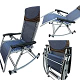 'Amaze' Folding portable compact Rocking Oscillating Easy reclining Designer Relax Chair-BLUE (Blue)