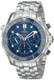 Omega Seamaster Diver Chronograph Blau Zifferblatt Stahl Herren-Armbanduhr 21230425003001