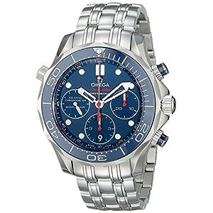 Omega de hombre 21230425003001analógico automático para hombre plateado reloj 7