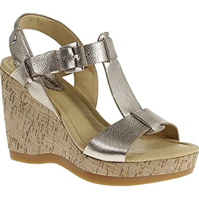 Hush Puppies Greta Lucca, Sandales compensées femme - Or (Gold), 36 EU (3 UK) (5 US)