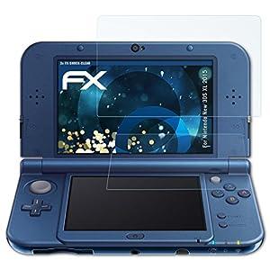 atFoliX Schutzfolie kompatibel mit Nintendo New 3DS XL 2015 Panzerfolie, ultraklare und stoßdämpfende FX Folie (3er Set)