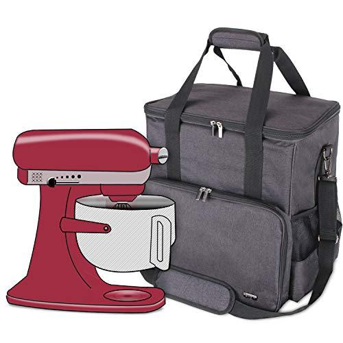 Luxja Aufbewahrungstasche für KitchenAid Küchenmaschine und Zubehör(passend für 5,6-7,5 Liter KitchenAid Küchenmaschine), Schwarz