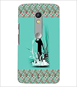 PrintDhaba Music D-5776 Back Case Cover for MOTOROLA MOTO X PLAY (Multi-Coloured)