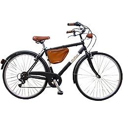 Via Veneto Bicicleta Clasica Retro Vintage - Caffe Racer Uomo Nero
