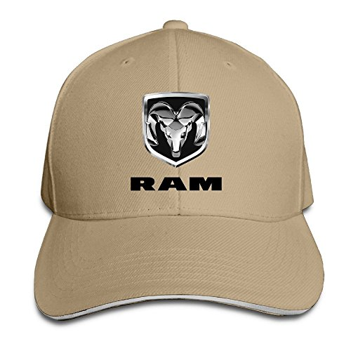 Hittings Bang Dodge Ram Logo Sandwich Baseball Cap Hats Natural