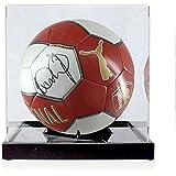 Ian Wright Firmado Arsenal Football En caso de exhibición