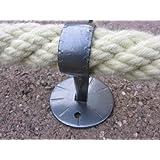 30mm -Soft Touch Hamburger Tauwerk Fabrik Handlaufseil//Absperrseile 20 Meter 4fach geschlagen Farbe: grau