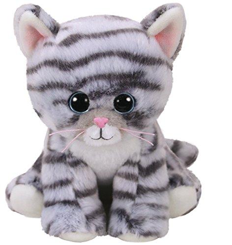 TY 42304 Millie, Katze Grau 15cm, Beanie Babies (Ty Beanie Baby Katze Plüsch)