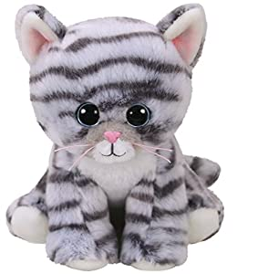 Ty- Beanie Babies Millie, Gato, Color Gris, 15 cm (United Labels Ibérica 42304TY)