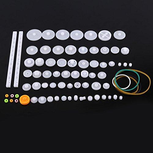 Plastik-Motor-Zahnräder DIY Roboter Gang Ausrüstungs Riemenscheiben Gurt Einzelne / Doppelte Kronen Wurm Gänge DIY Auto-Roboter(75er)