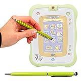 Duragadget Stylet Tactile Vert 2 en 1 pour Tablette VTech Storio 2 Baby pour Enfant...