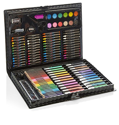 Artworx 118 Piece Art Set For Kids - Junior Artists Colouring & Painting Case