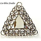 La Bliss Studio Triangle Mirror With Multicolor Circles Mirror Wall Art/Wall Hanging/Wall Décor.