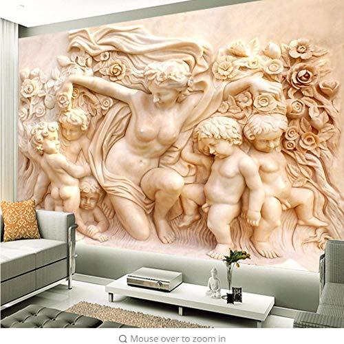 s Skulptur-Wandgemälde Der Europäischen 3D Kundenspezifisches Fotowandpapier Auf Der Wand Tapeten-Wohnzimmer-Wohnzimmer-Sofa-Hintergrund 3D ()