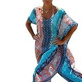 Esenfa Kaftan für Damen, lang, Chiffon, Strandtuch, Kleid, Badekleidung