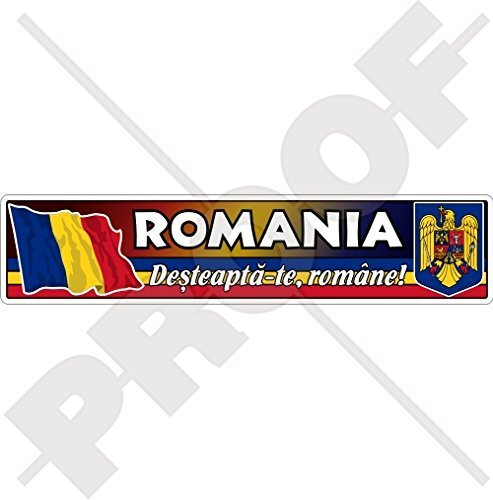 RUMÄNIEN Rumänische Flagge-Wappen 180mm Auto & Motorrad Aufkleber, Vinyl Sticker