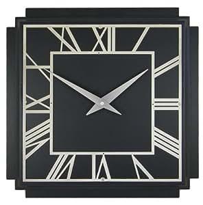 1930 39 S Art Deco Square Wall Clock Finish Black