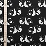 Black & White - 3D Panda - Jersey - 1 Meter / 150 cm breit
