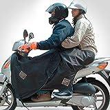 Tucano Urbano - Termoscud coprigambe per passeggero scooter R091 Nero