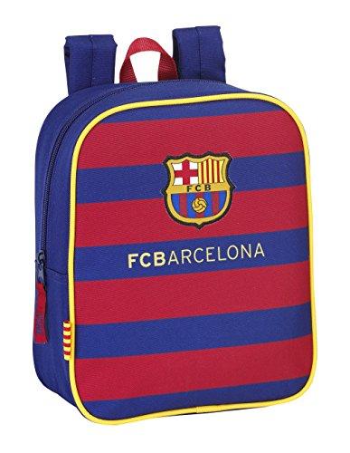 Safta FC Barcelona Mochila para la Guardería, 22 x 27 x 10 cm, Color Azul Marino