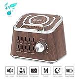 Machine de bruit blanc, Olago Machine de son mixte de spa de du sommeil pour l'insomniaque, le yoga, le travail, l'intimité de la parole et la pouponnière - Chargeur filaire, haut-parleur Bluetooth avec 10 son naturel apaisant