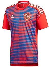 Adidas Rusia de Home Pre Match Camiseta, Todo el año, Hombre, Color Red
