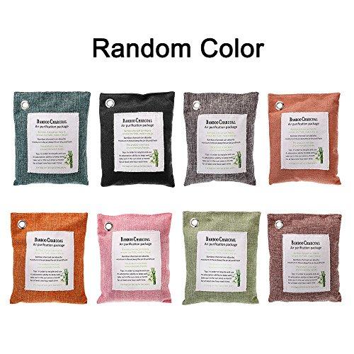 Preisvergleich Produktbild KKmoon Luftreinigungsbeutel 200 Gramm Natürlicher Geruchsbeseitiger Duftstofffreier chemikalienfreier Geruchsabsorber Erfasst und beseitigt Gerüche Holzkohlefarbe