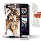 Stuff4® Gel TPU Hülle/Hülle für BlackBerry Z30 / Wolf