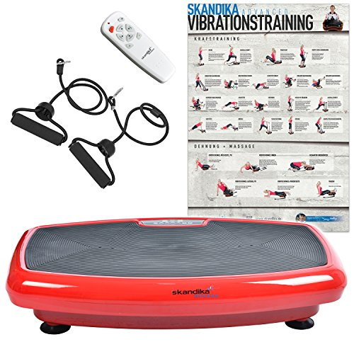 Skandika Home 600, Plataforma vibratoria, color Rojo