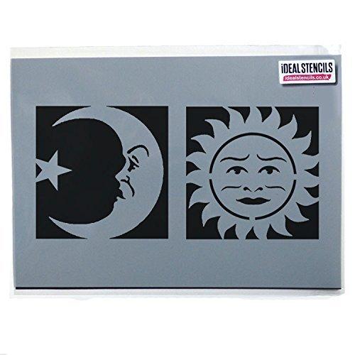 nd Vorderseite Schablonen / Halloween Ouija Brett Symbole / wohnkultur-kunsthandwerk - halb transparent Schablone, M Symbols 17x17cm (Malen Sie Gesichter Für Halloween)