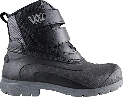 Woof Wear-Stivali corti, da adulto, colore: nero/argento Black