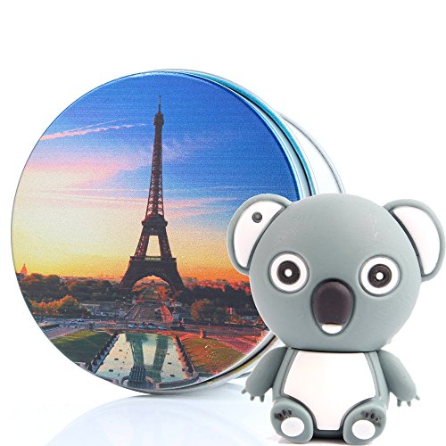 Koala USB-Flash-Lauwerk 2.0 USB-Sticks Kenor 8GB/16G/32G/64G Cute Novelty Animal Form Datenspeicher mit Schlüsselanhänger Eiffelturm Gift Boxes 32 GB